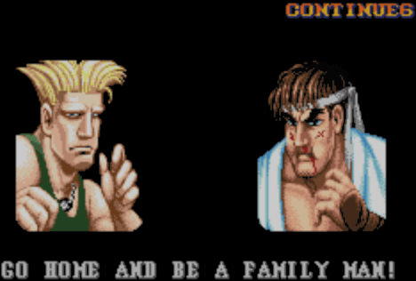 "Guile's ""Go home and be a family man!""... what's better trash talk than that?"