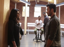 """QUANTICO - """"Stescalade"""" - The new CIA recruits continue training at The Farm focusing on assessment, while in the future, Alex goes undercover to infiltrate the terrorist group holding everyone hostage where she is shocked to discover not everyone is a stranger on """"Quantico,"""" airing SUNDAY, OCTOBER 16 (10:00-11:00 p.m. EDT), on the ABC Television Network. (ABC/Giovanni Rufino) PRIYANKA CHOPRA, TRACY IFEACHOR, BLAIR UNDERWOOD, AARON DIAZ"""