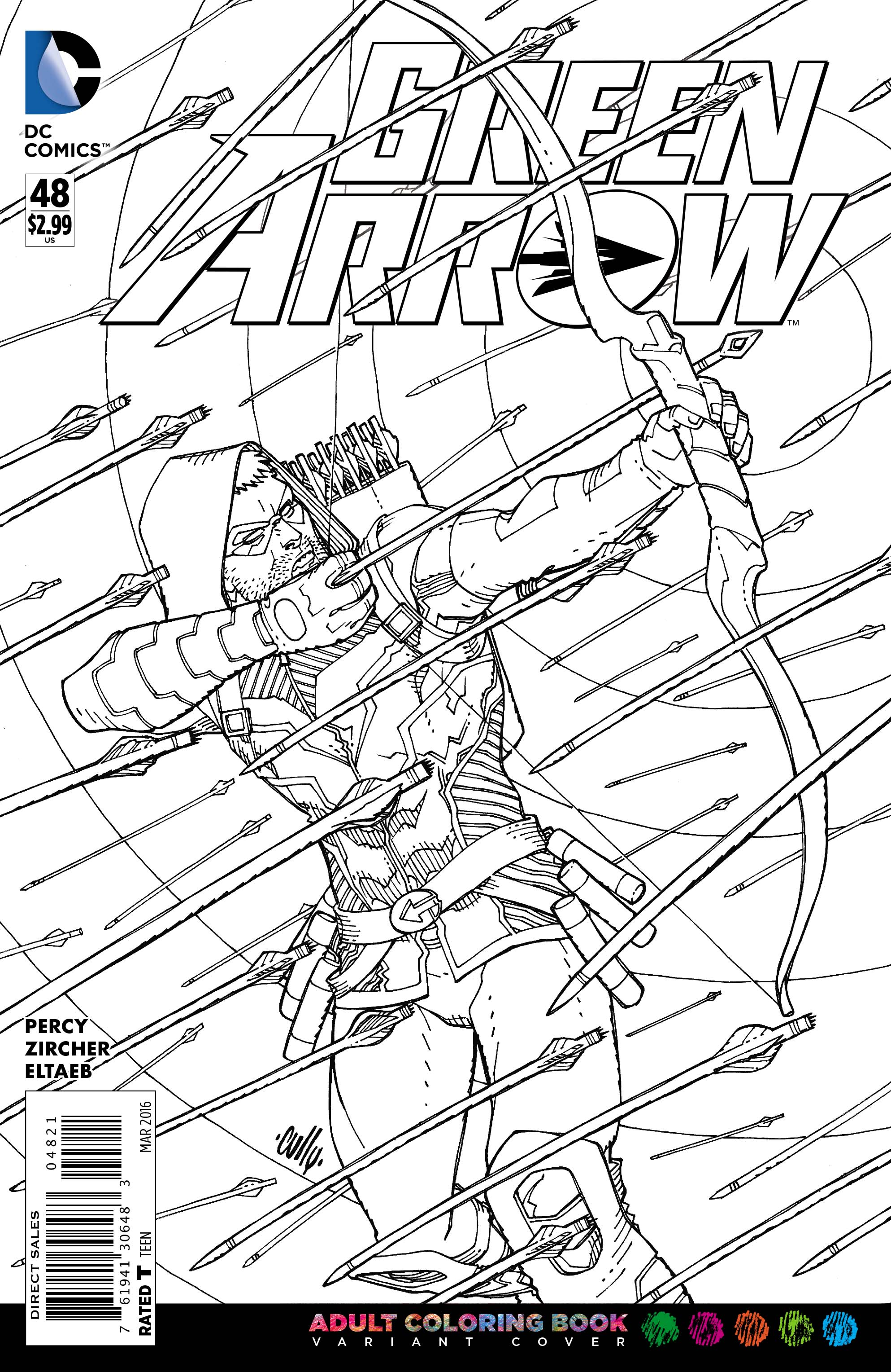 Test Your Coloring With DC Comics Adult Coloring Book Variant Covers ...