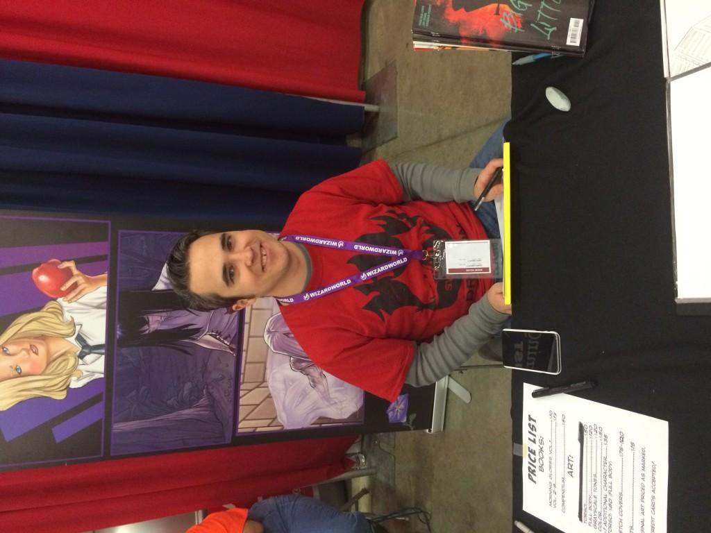 Morning Glories artist Joe Eisma at Dallas Comic Con 2016