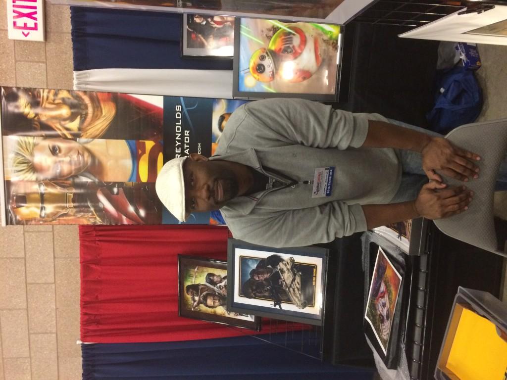 Artist Lawrence Reynolds at Dallas Comic Con 2016